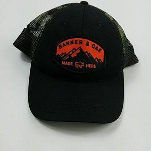 2497c1196 Banner & Oak Men's OS Black Mesh Snapback Hat QQ10 NWT